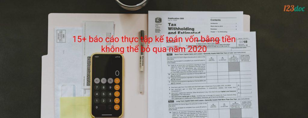 Báo cáo thực tập kế toán vốn bằng tiền