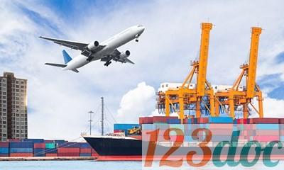Sinh viên cần phải hoàn thành quá trình thực tập trước khi viết báo cáo thực tập quy trình giao nhận hàng hóa nhập khẩu bằng đường biển