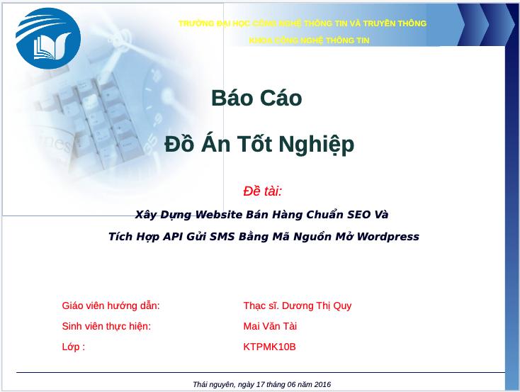 Slide bảo vệ đồ án tốt nghiệp thiết kế website chuẩn seo