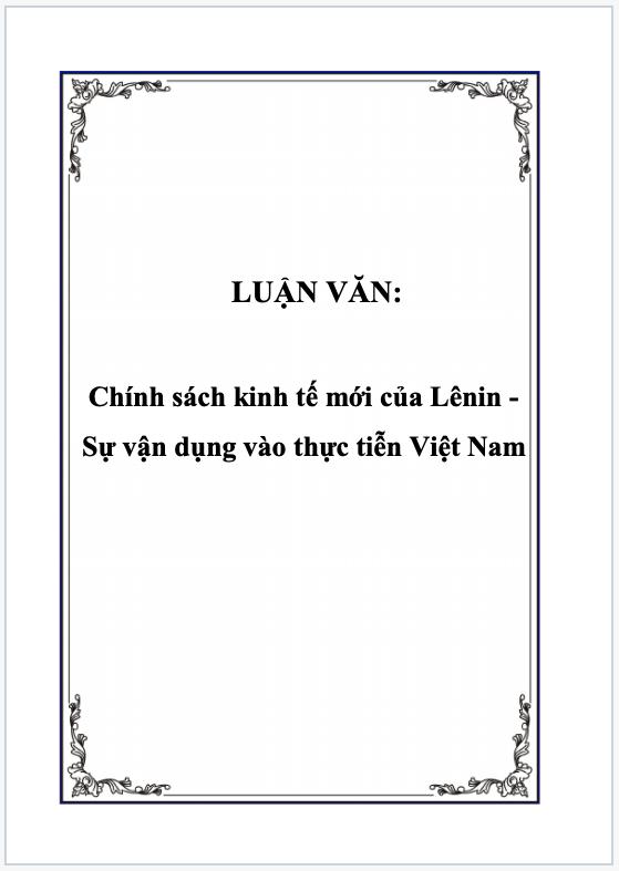 Vận dụng chính sách kinh tế vào thực tiễn Việt nam