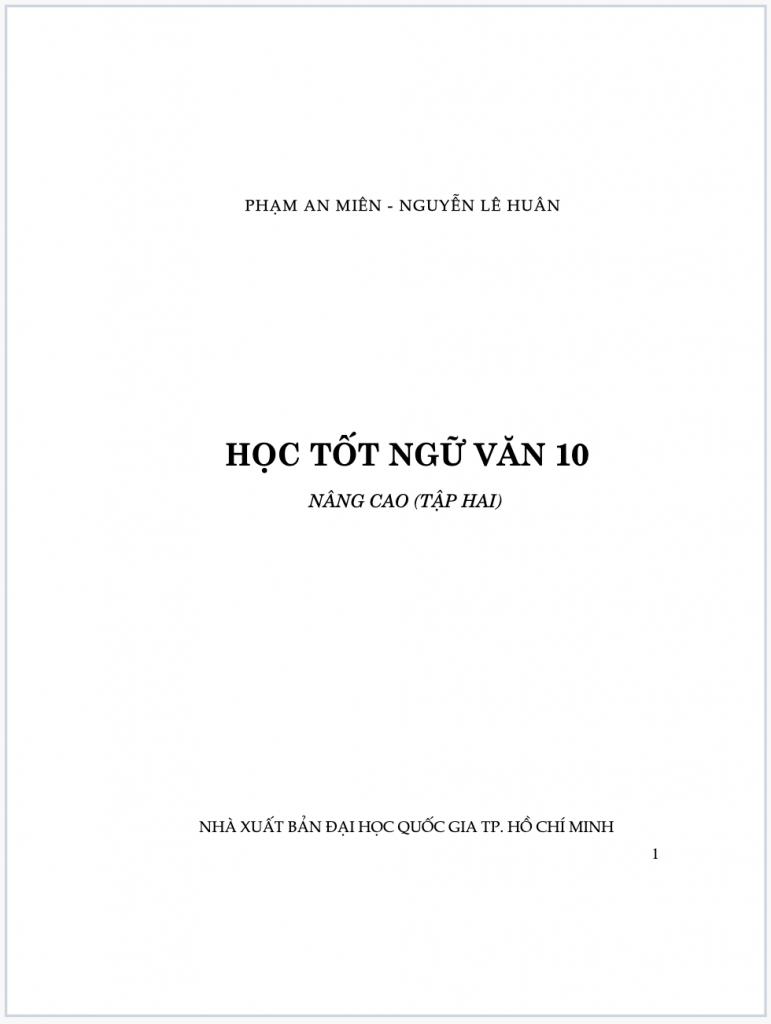 Học tốt ngữ văn 10 tập 2 nâng cao