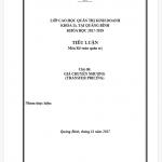 Tiểu luận kế toán quản trị giá chuyển nhượng (transfer pricing)