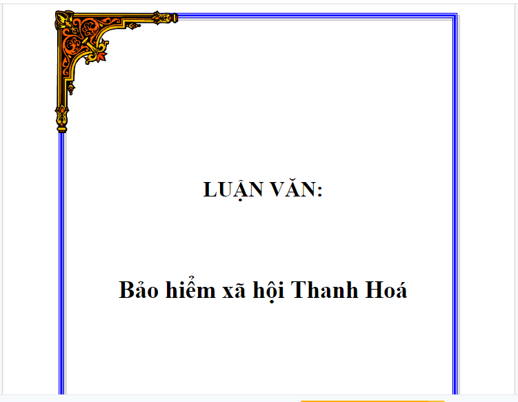 Luận văn bảo hiểm xã hội Thanh Hóa