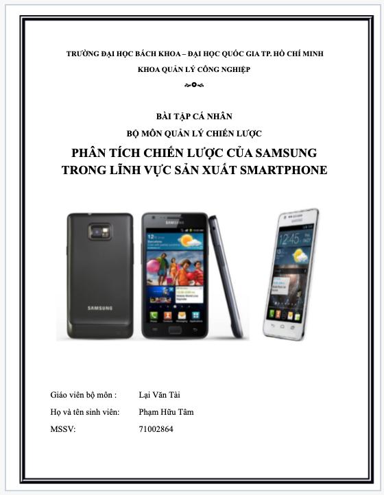Tham khảo và phân tích chiến lược kinh doanh của Samsung